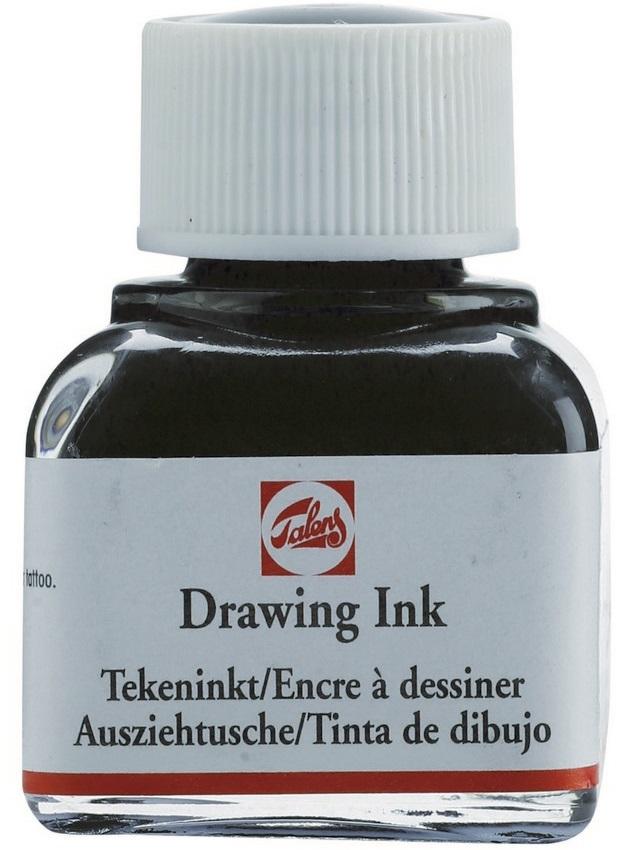 Купить Чернила чертёжно-рисовальные Talens Drawing Ink 11 мл Чёрный, Royal Talens
