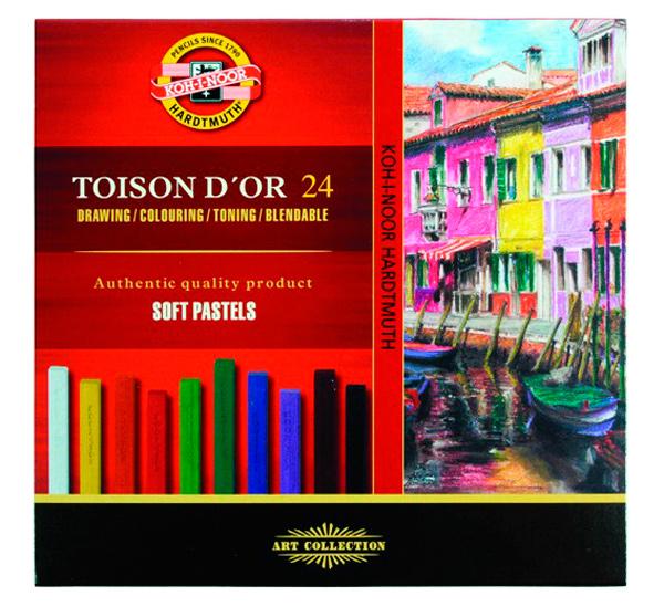Купить Набор сухой пастели Koh-I-Noor Toison Dor 24 цв, прямоугольная, KOH–I–NOOR, Чехия