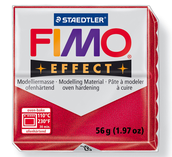 Купить Пластика для запекания Staedtler Fimo Effect 56 г рубиновая, Германия