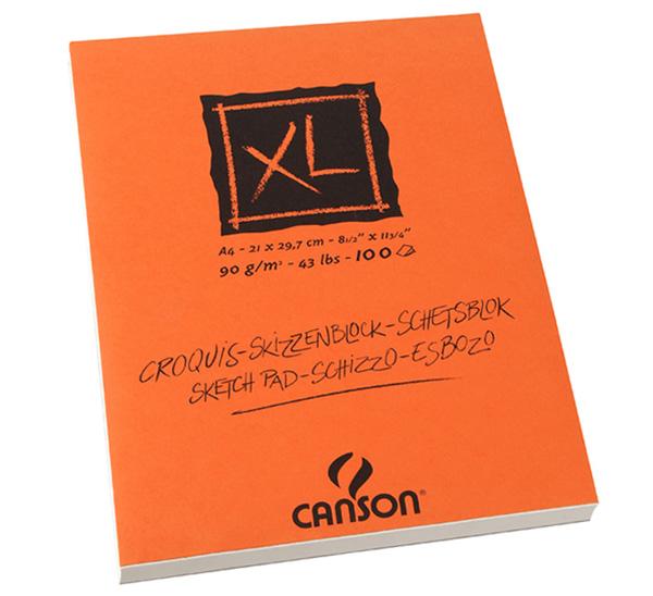 Купить Альбом-склейка для графики Canson XL Croquis А4 100 л 90 г, Франция