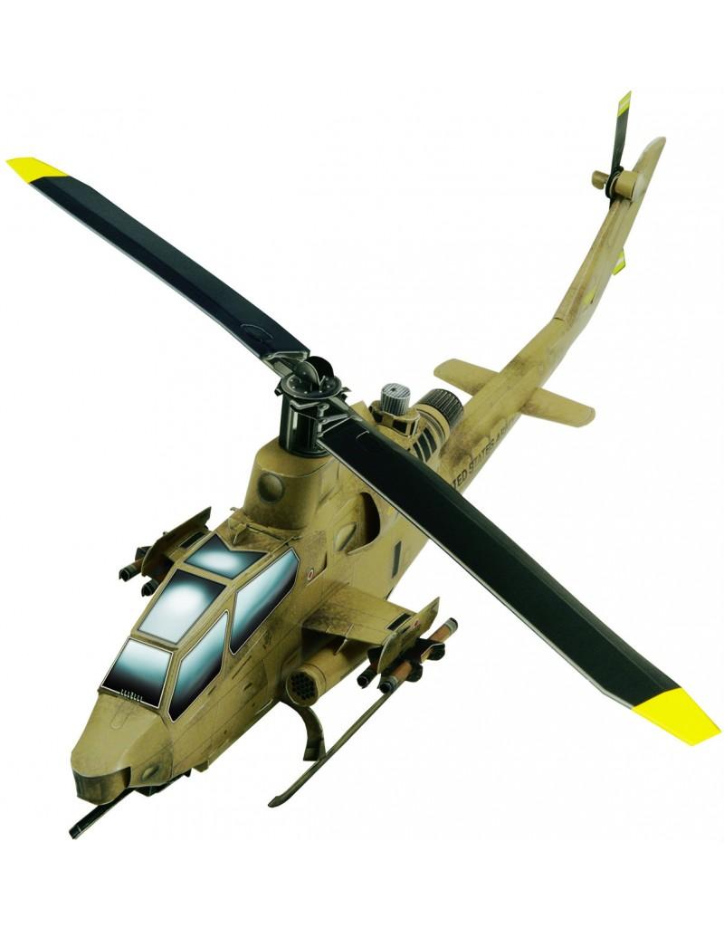 Купить Сборная модель из картона Авиация Вертолет АН-1S Cobra песочный, Умная бумага, Россия