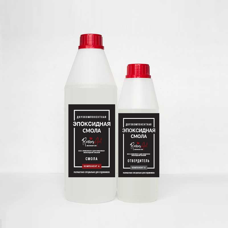 Купить Эпоксидная смола для рисования ResinArt №2 густая 0, 3 кг, Франция