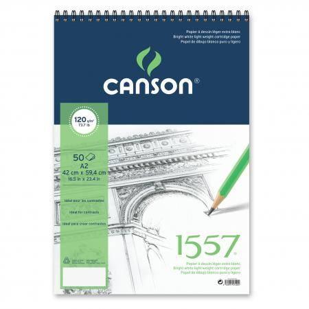 Купить Альбом для графики на спирали Canson 1557 42*59, 4 см 50 л 120 г, Франция