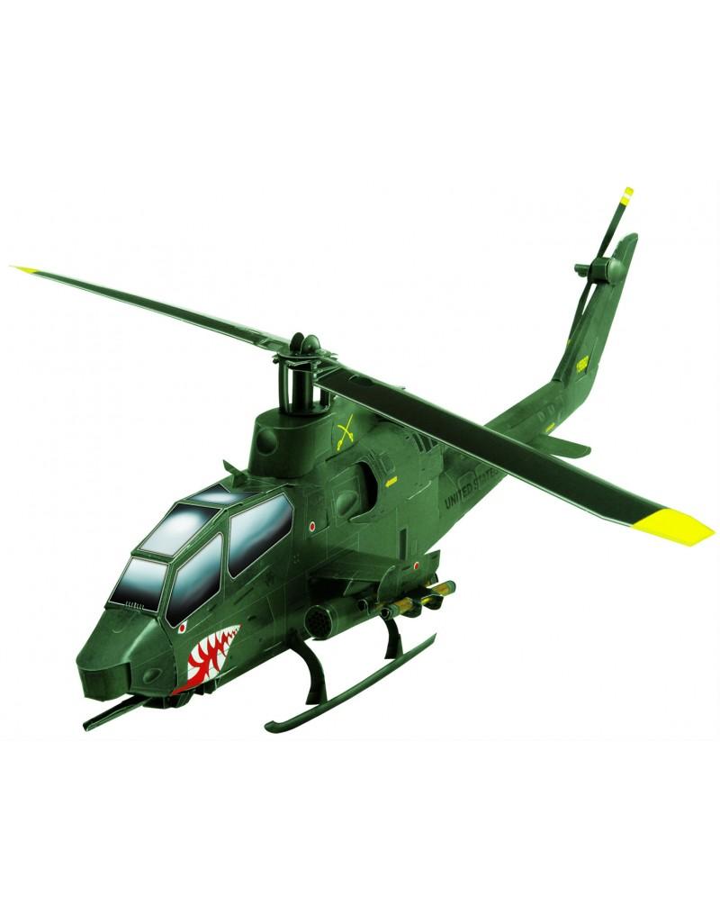 Купить Сборная модель из картона Авиация Вертолет АН-1S Cobra зеленый, Умная бумага, Россия