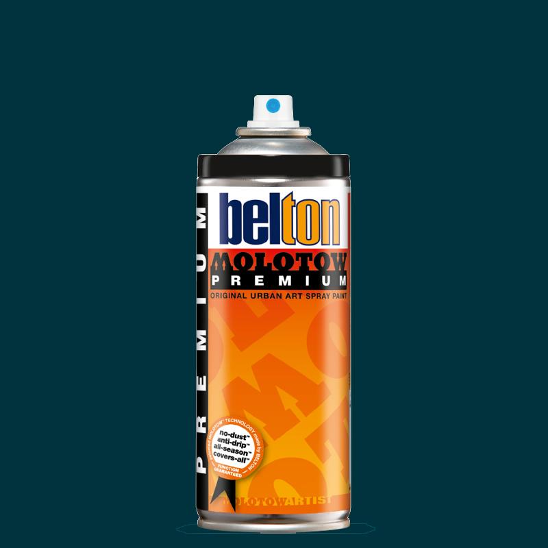 Купить Аэрозольная краска Molotow Premium belton 400 мл #130 black turquoise, Германия