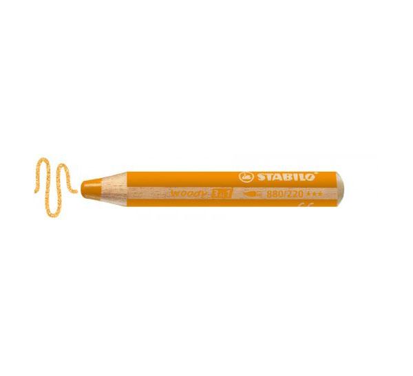 """Карандаш Stabilo """"Woody"""" 3-в-1 цветной, акварельный, восковой Оранжевый"""