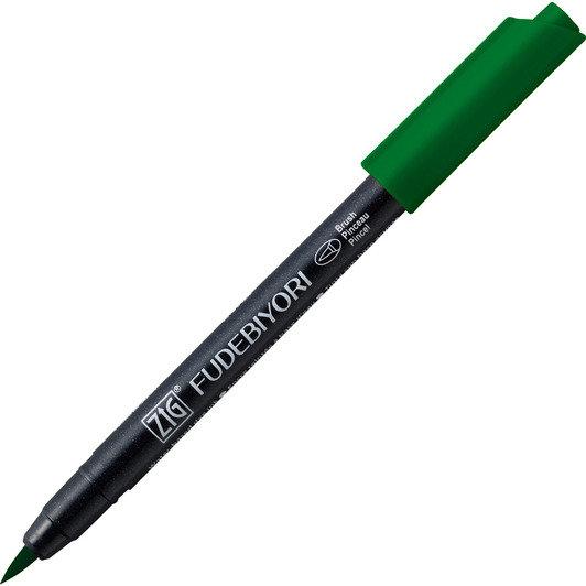 Купить Ручка на водной основе, перо кисть ZIG Kuretake Fudebiyori Зеленый, Япония