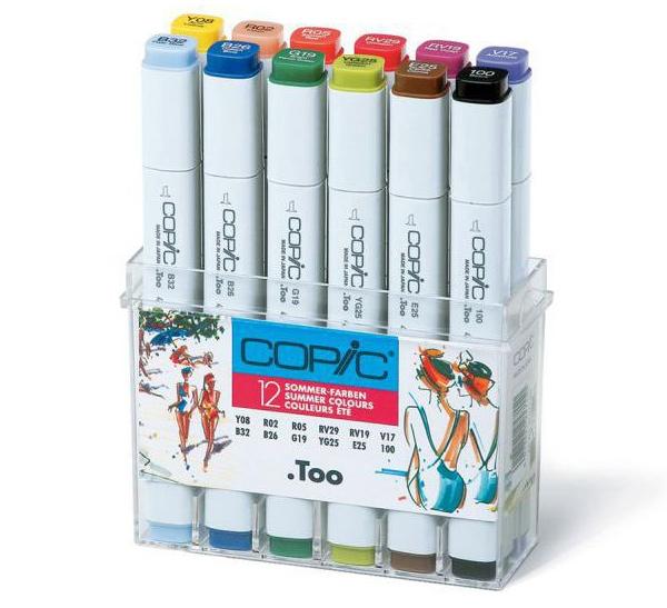 Купить Набор маркеров Copic 12 шт Лето , Copic Too (Izumiya Co Inc), Япония