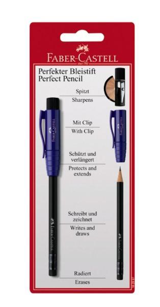 Купить Карандаш чернографитный Faber-Castell Perfekt pencil с точилкой, в блистере, Faber–Сastell, Германия