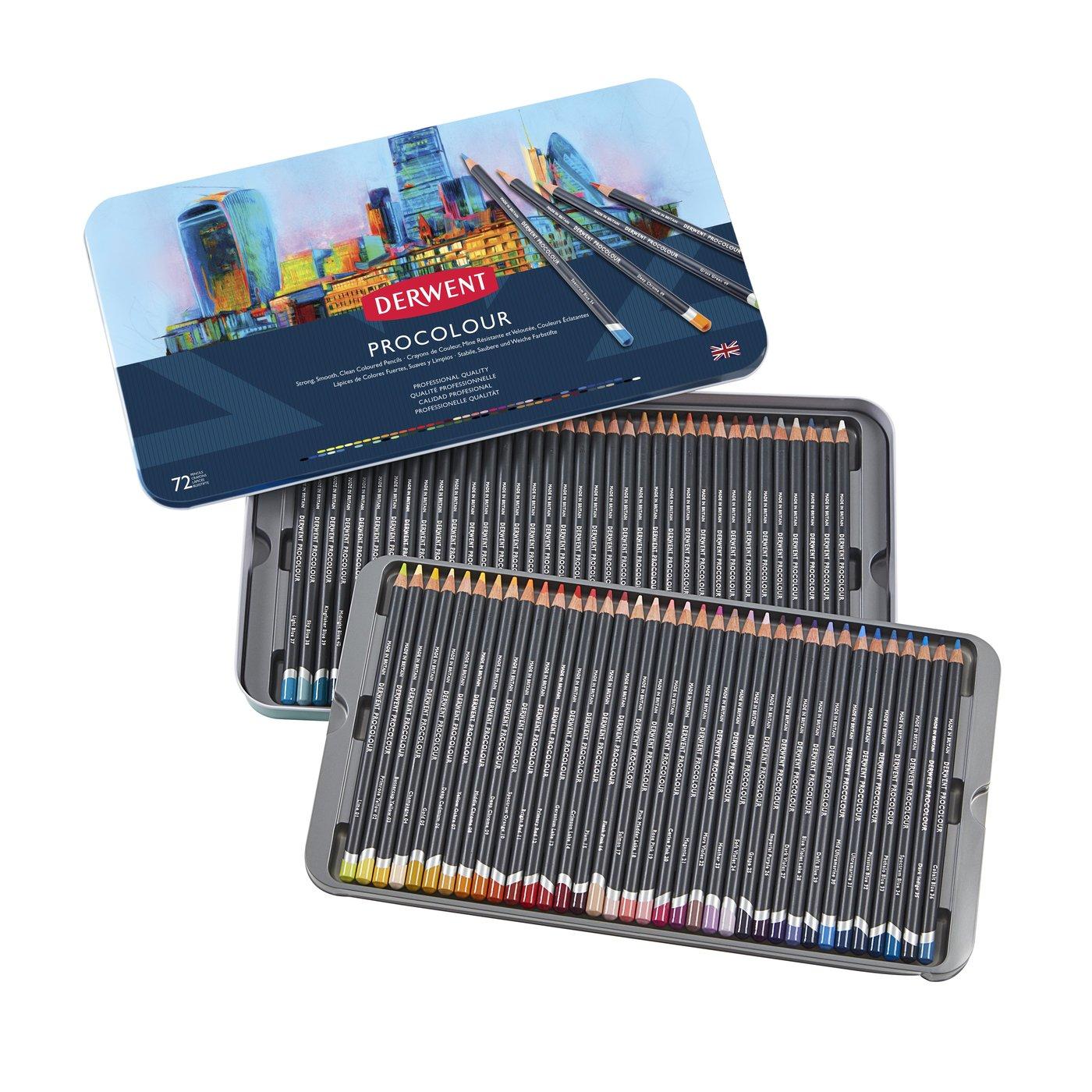 Купить Набор карандашей цветных Derwent Procolour 72 цв в метал. коробке