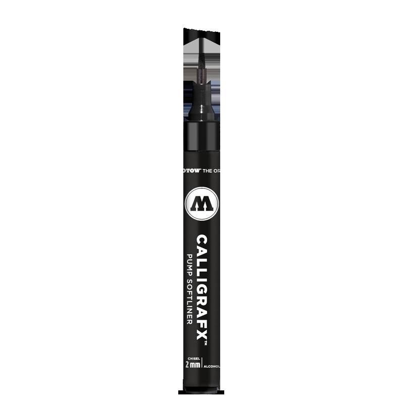 Маркер-кисть Molotow GRAFX 2 мм чёрный, Германия  - купить со скидкой