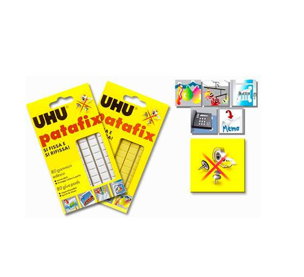 """Клеящие подушечки UHU """"Patafix"""" 80 шт, желтые"""