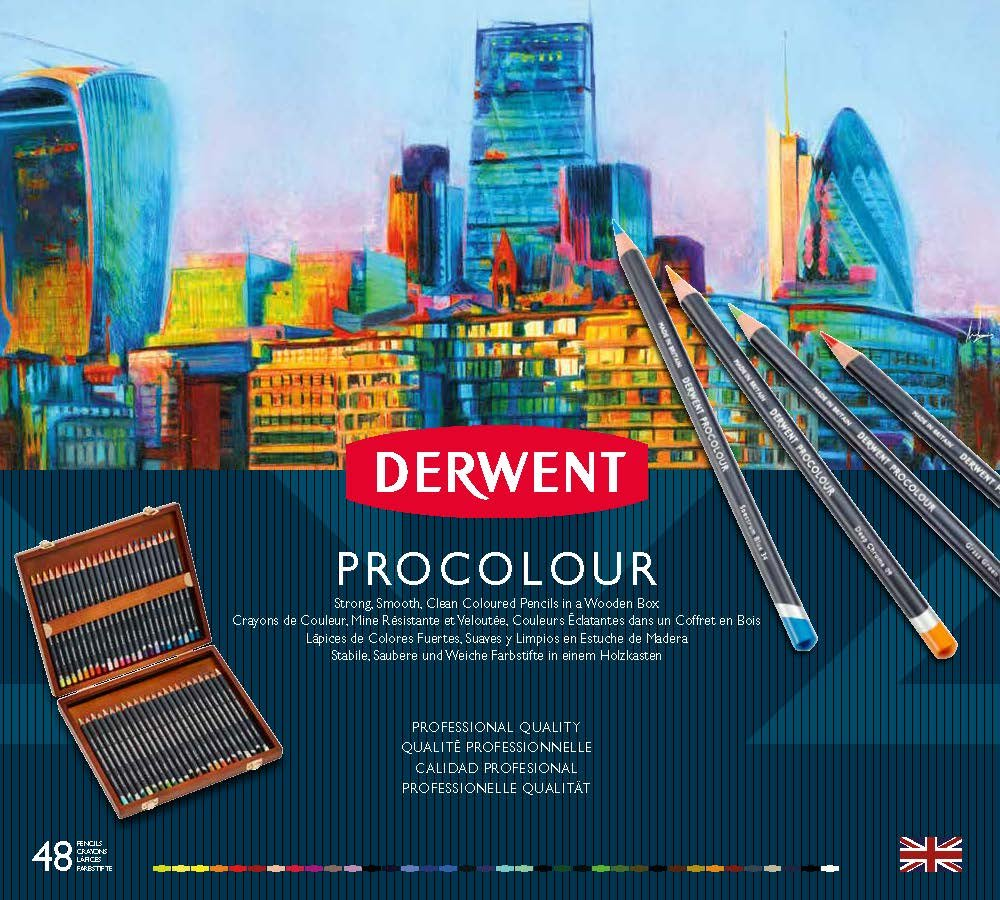 Купить Набор карандашей цветных Derwent Procolour 48 цв в деревянной коробке