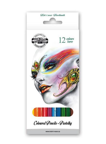 Купить Набор карандашей цветных Koh-I-Noor Фантазия 12 цветов, картон, KOH–I–NOOR, Чехия