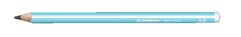 Купить Карандаш чернографитный Stabilo Trio HB, корпус голубой, Германия