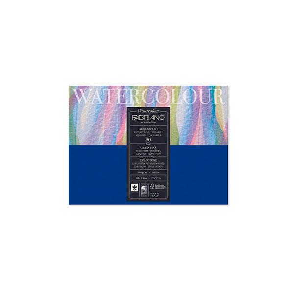 Альбом-склейка для акварели Fabriano Watercolour 30х40 см 20 л 300 г.