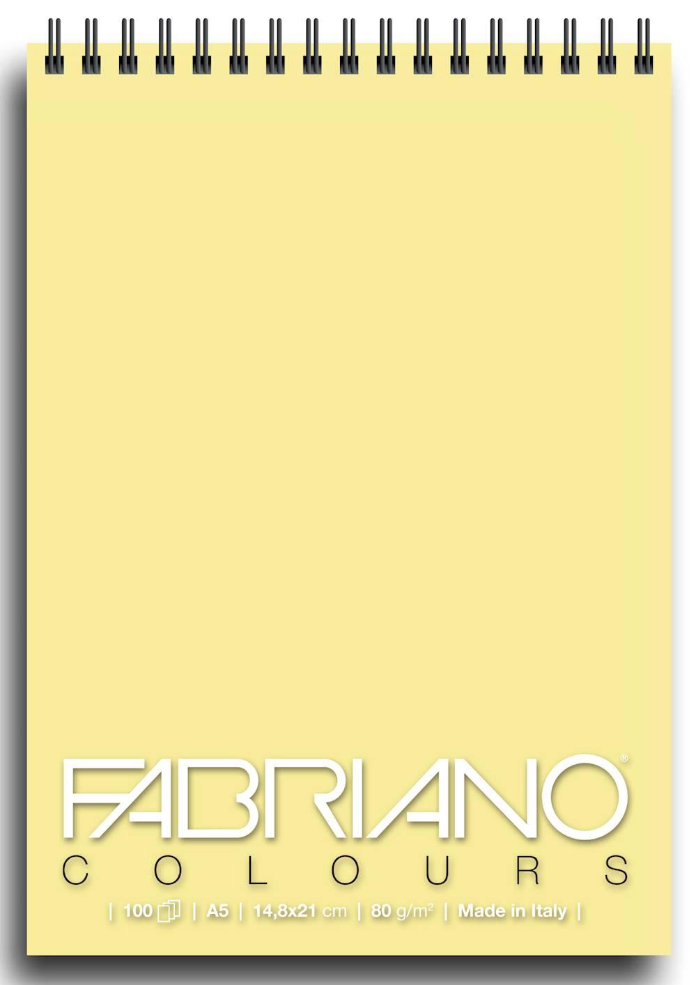 Альбом для графики на спирали Fabriano Writing Colors 148х21 см 100 л 80 г банан.