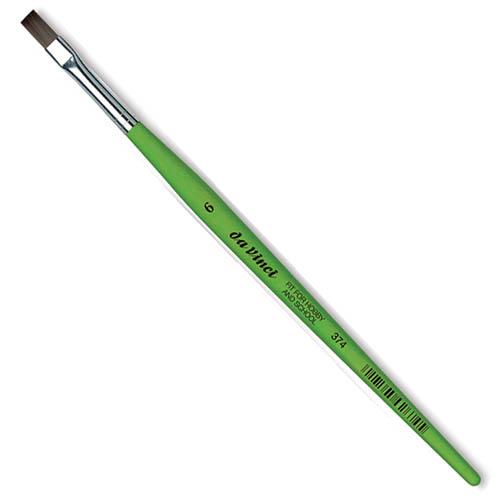 Купить Кисть синтетика №6 плоская Da Vinci 374 короткая ручка, Германия