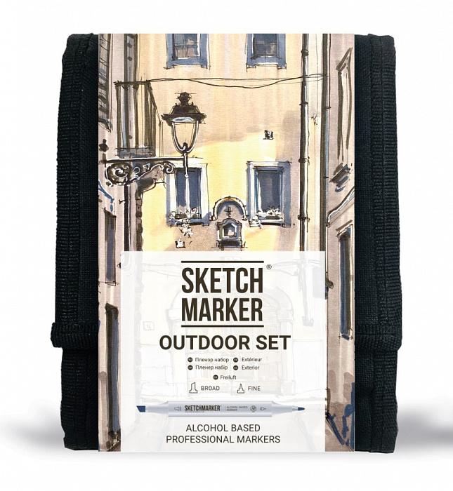 Купить Набор маркеров Sketchmarker Outdoor 12 шт, Япония