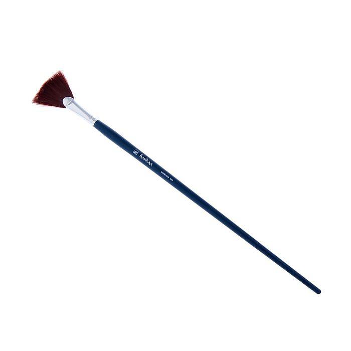 Купить Кисть синтетика №8 веерная Альбатрос Байкал длинная ручка, Россия