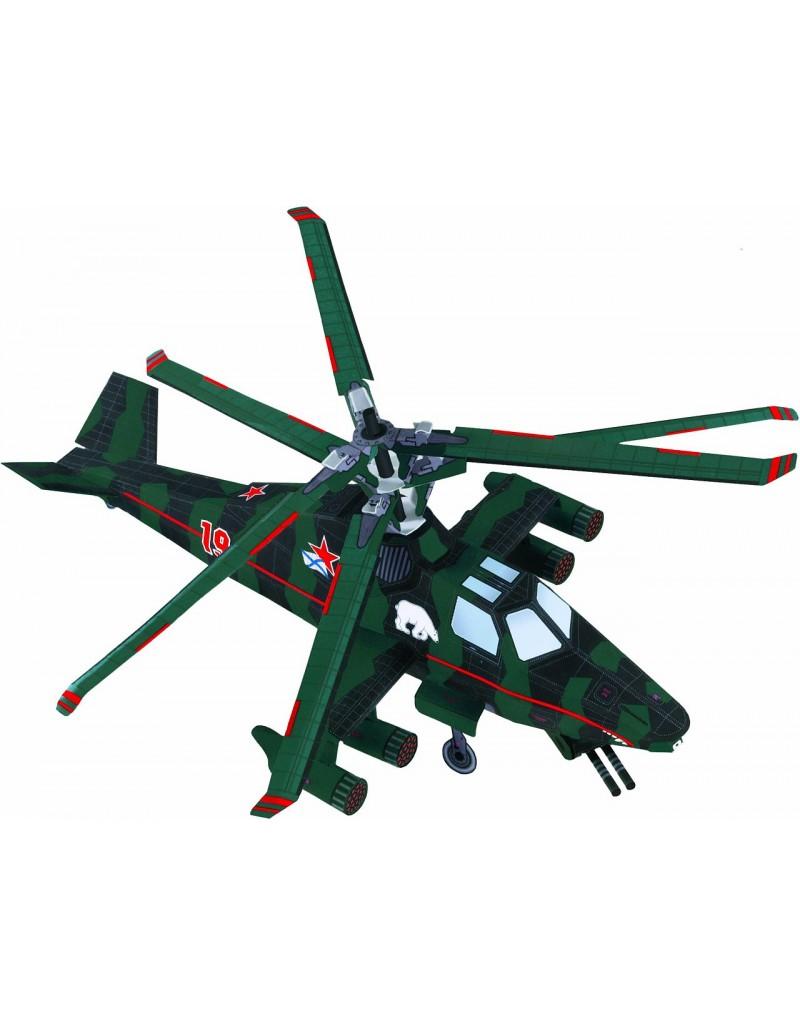 Купить Сборная модель из картона Вертолет Медведь , Умная бумага, Россия