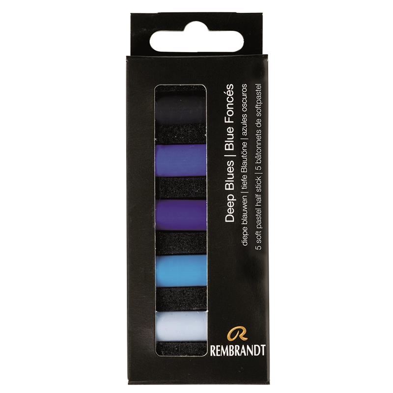 Купить Набор сухой пастели Talens Rembrandt Глубокий синий 5 цв, в картонной коробке, Royal Talens