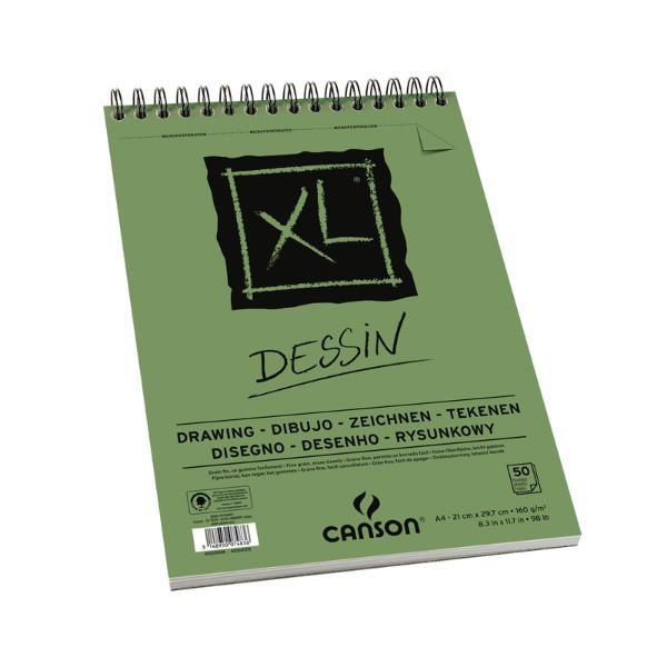 Купить Альбом для графики на спирали Canson XL Dessin 21х29, 7 см 50 л 160 г, Франция