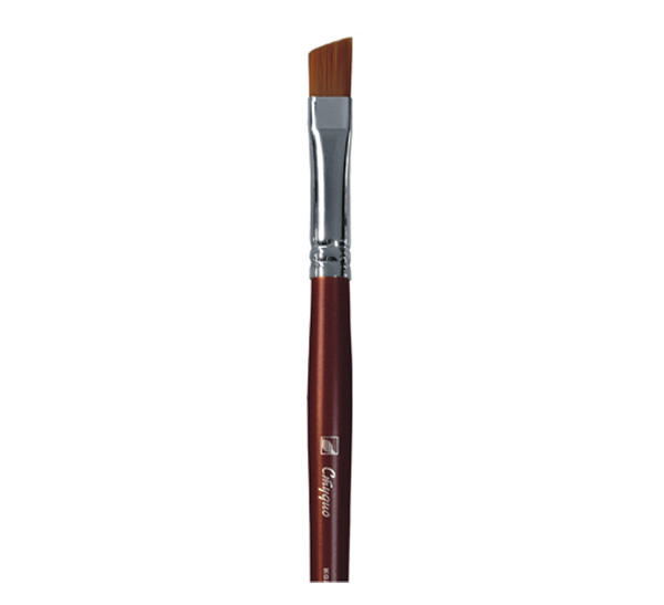 Купить Кисть синтетика №8 скошенная Альбатрос Студио длинная ручка, Россия