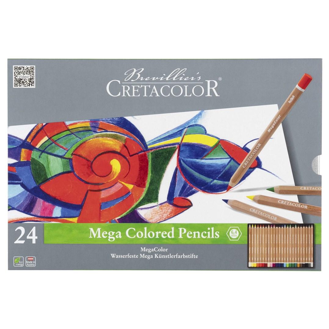 Купить Набор карандашей цветных Cretacolor Megacolor 24 цветов в металлической коробке, Австрия