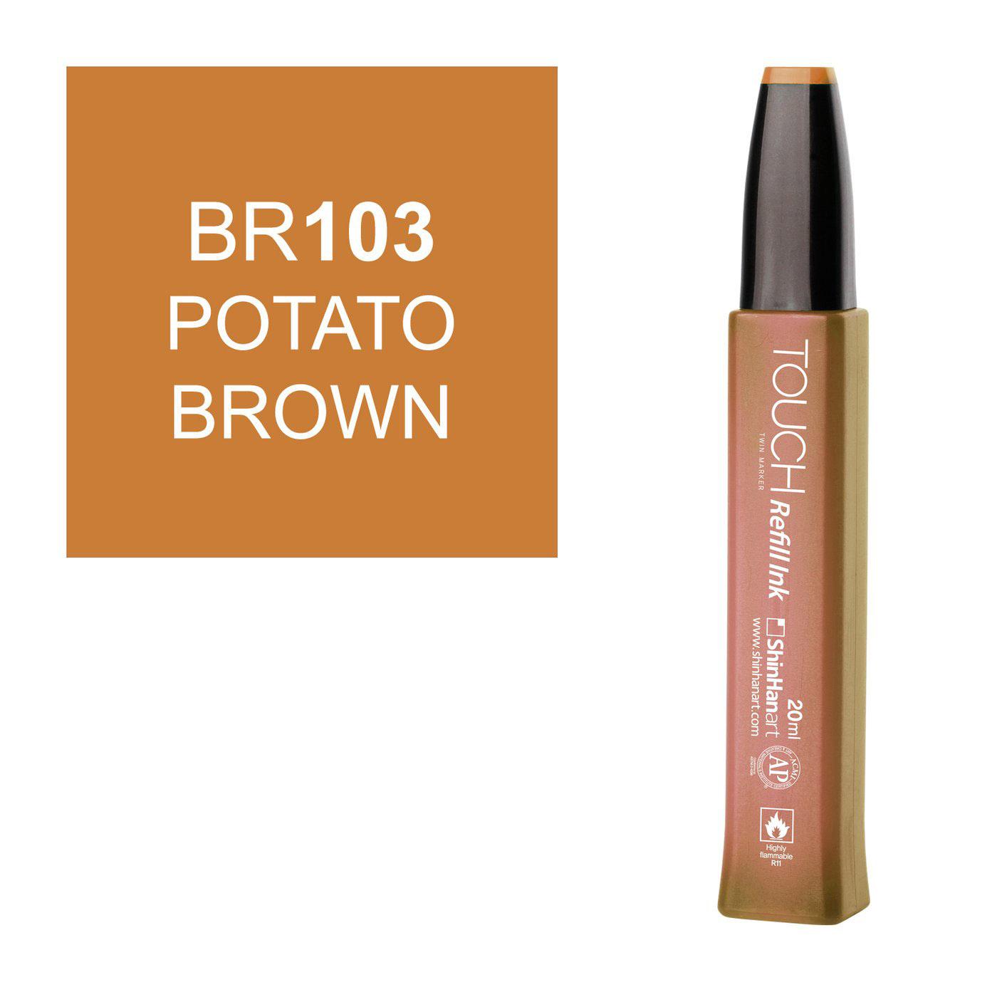 Купить Заправка для маркеров Touch Refill Ink 20 мл BR103 Картофельный, ShinHan Art (Touch), Южная Корея