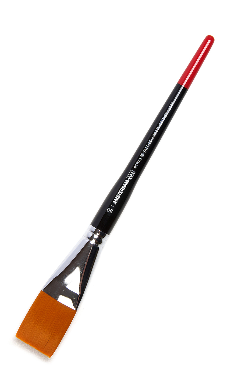 Купить Кисть синтетика мягкая №30 плоская Talens Amsterdam 342 короткая ручка, Royal Talens