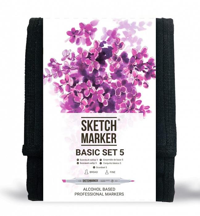 Купить Набор маркеров Sketchmarker Basic set 5 12 шт, Япония
