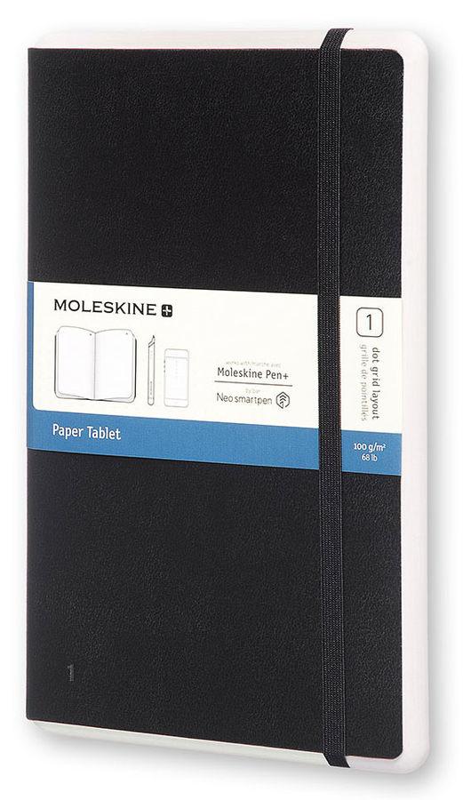 Купить Записная книжка в точку Moleskine Paper Tablet Large 130х210 мм 176 стр обложка черная, Китай