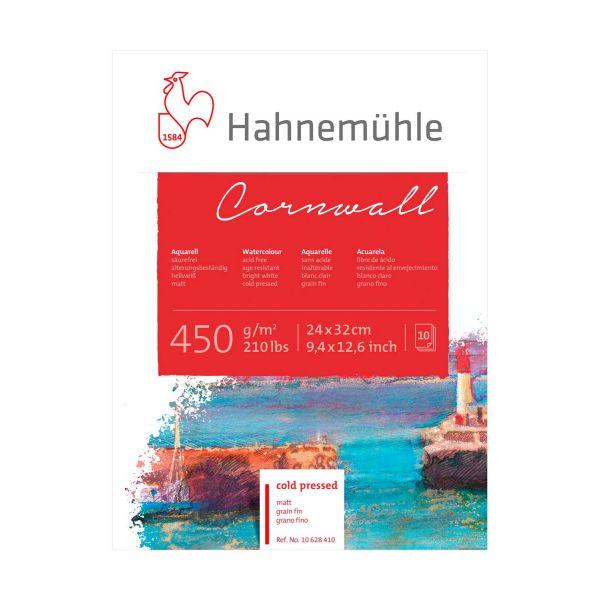 Купить Альбом-склейка для акварели Hahnemuhle Cornwall 24х32 см 450 г 10 л среднее зерно, целлюлоза 100%, HAHNEMUHLE FINEART, Германия
