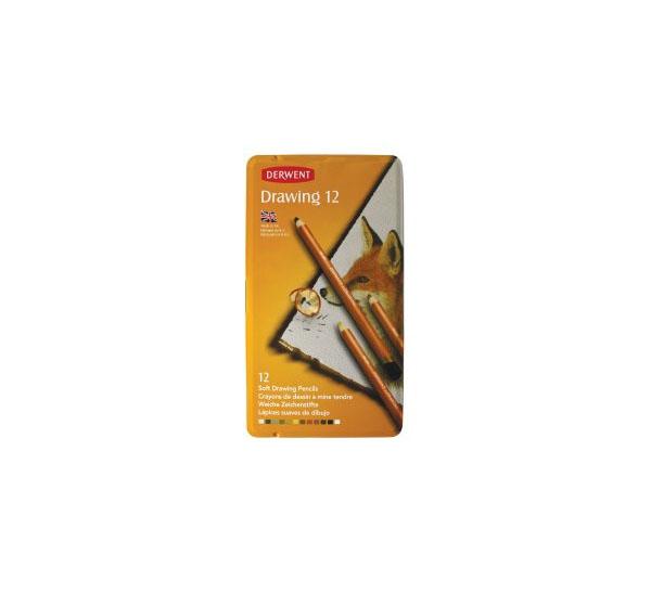 Купить Набор карандашей цветных Derwent Drawing 12 цв в метал кор
