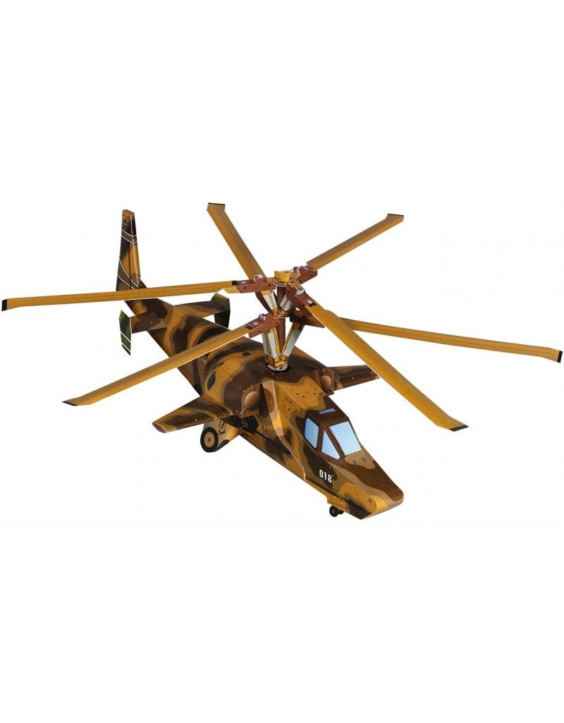 Купить Сборная модель из картона Авиация Вертолет Черная Акула , Умная бумага, Россия
