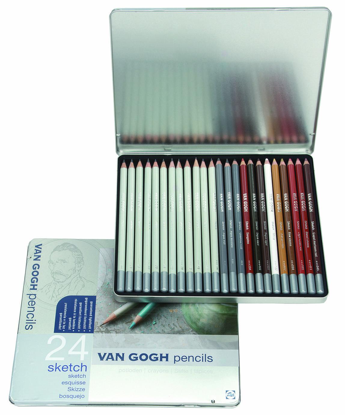 Купить Набор карандашей для эскизов Talens Van Gogh 24 шт, Royal Talens