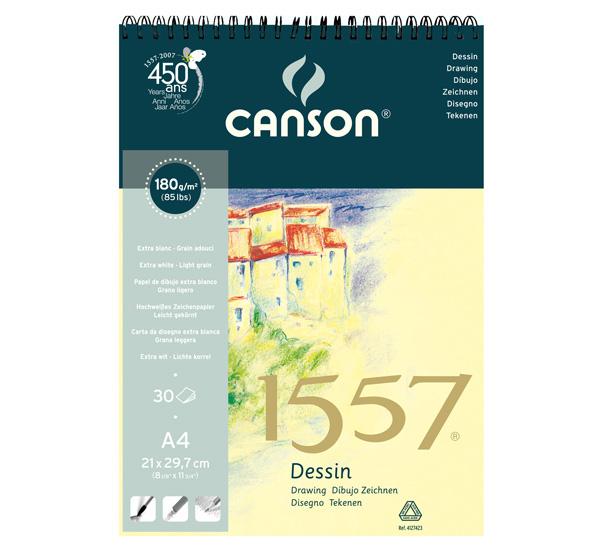 Купить Альбом для графики на спирали Canson 1557 А4 30 л 180 г, Франция