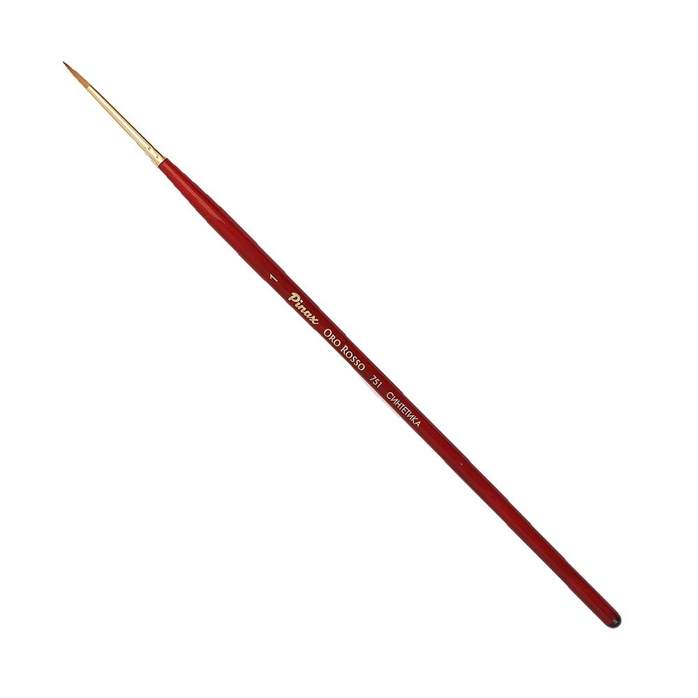 Купить Кисть синтетика №1 круглая Pinax Oro Rosso 751 короткая ручка, Китай