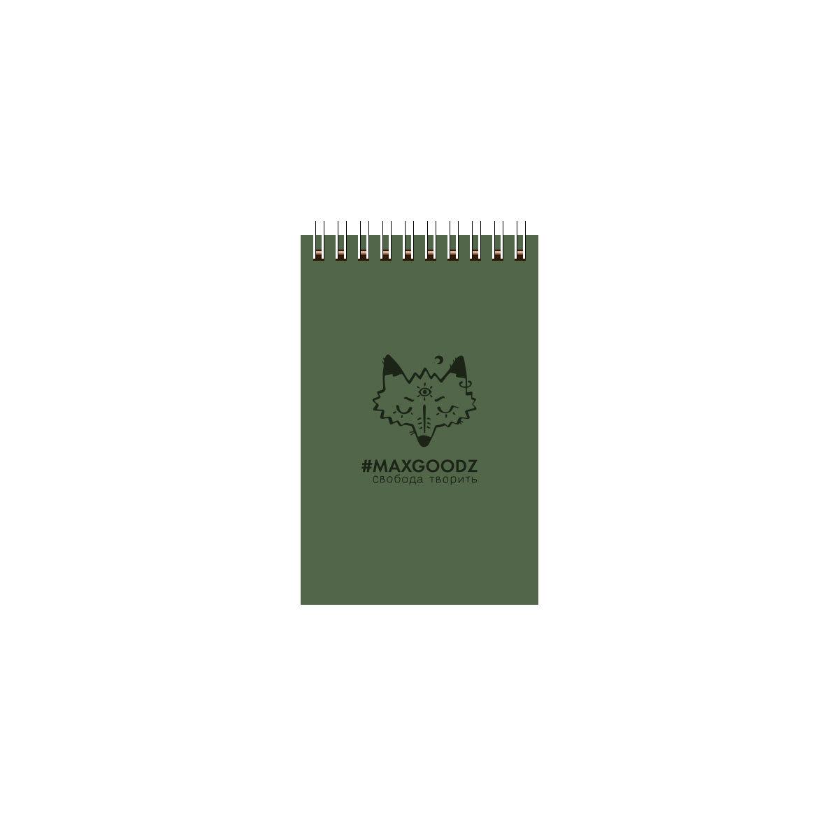 Купить Скетчбук на пружине Maxgoodz Aqua Mini А6 26 л 230 г Болотный, Россия