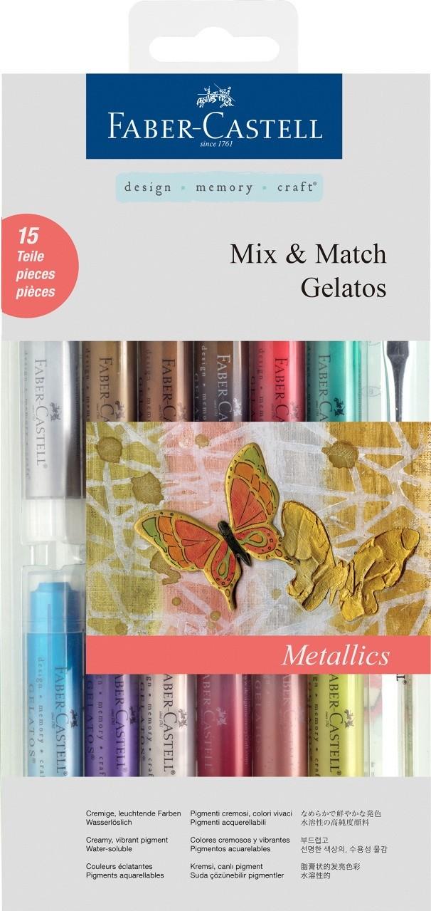 Купить Набор цветных карандашей Faber-castell Gelatos гелевые, 15 шт + кисть, в картонной коробке, Faber–Сastell, Германия
