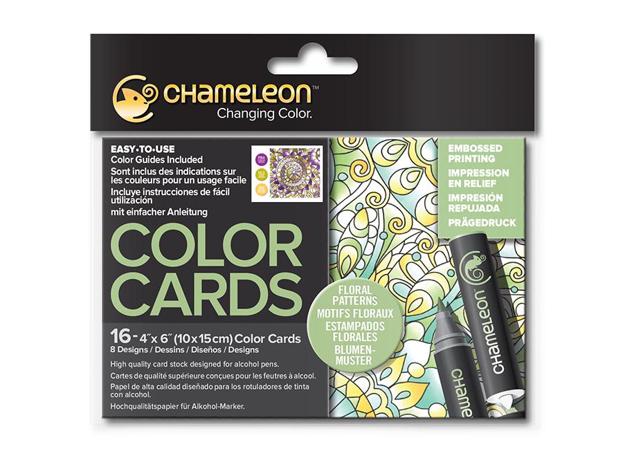 Раскраска-склейка Chameleon Floral Patterns Цветочные узоры