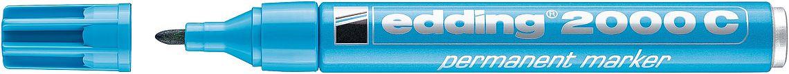 Купить Маркер перманентный Edding 2000C 1, 5-3 мм с круглым наконечником, голубой, Германия