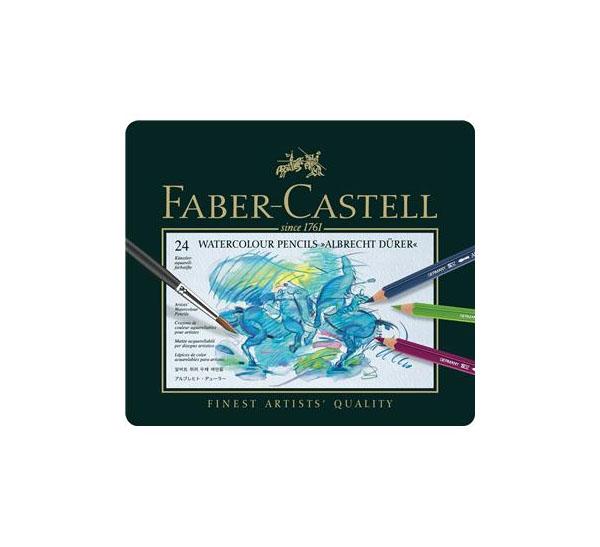 Купить Набор цветных карандашей акварельных Faber-castell Albrecht Durer 24 цв проф-ные в металле, Faber–Сastell, Германия