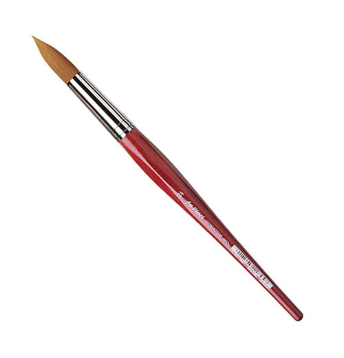 Купить Кисть синтетика №24 круглая Da Vinci 5580 короткая ручка, Германия