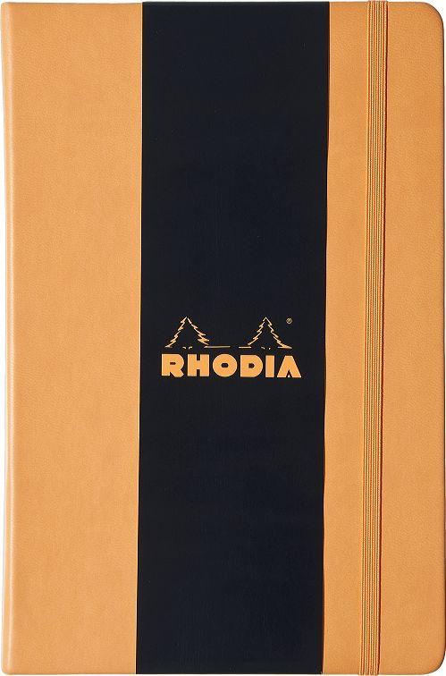 Купить Блокнот Rhodia Webnotebook А4 96 л 90 г, оранжевый, листы: слоновая кость, Франция