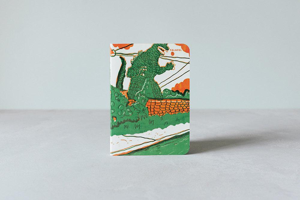 Купить Блокнот FALAFEL BOOKS А6 Godzilla, Россия