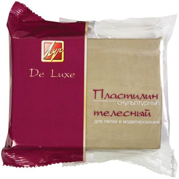 """Пластилин скульптурный """"Луч"""" 300 г телесный твердый"""