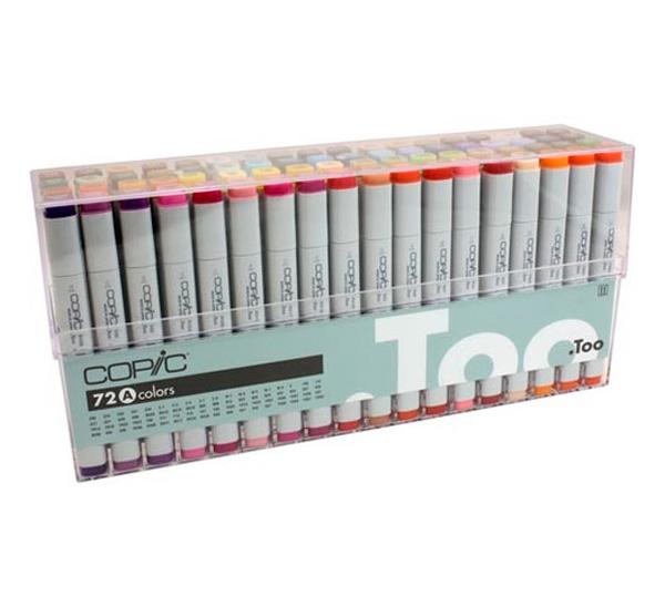 Купить Набор маркеров Copic Sketch 72 цв, в прозрачном пластике, Copic Too (Izumiya Co Inc), Япония