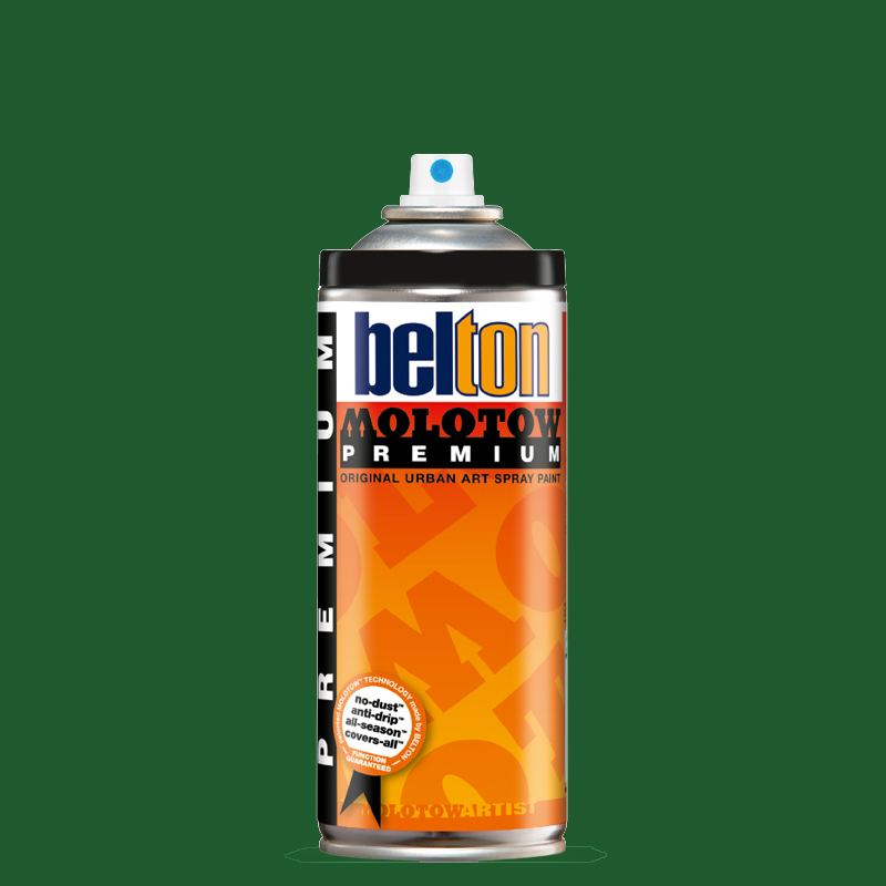 Купить Аэрозольная краска Molotow Premium belton 400 мл #161 leaf green, Германия